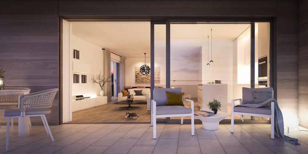 Terrasse Wohnung