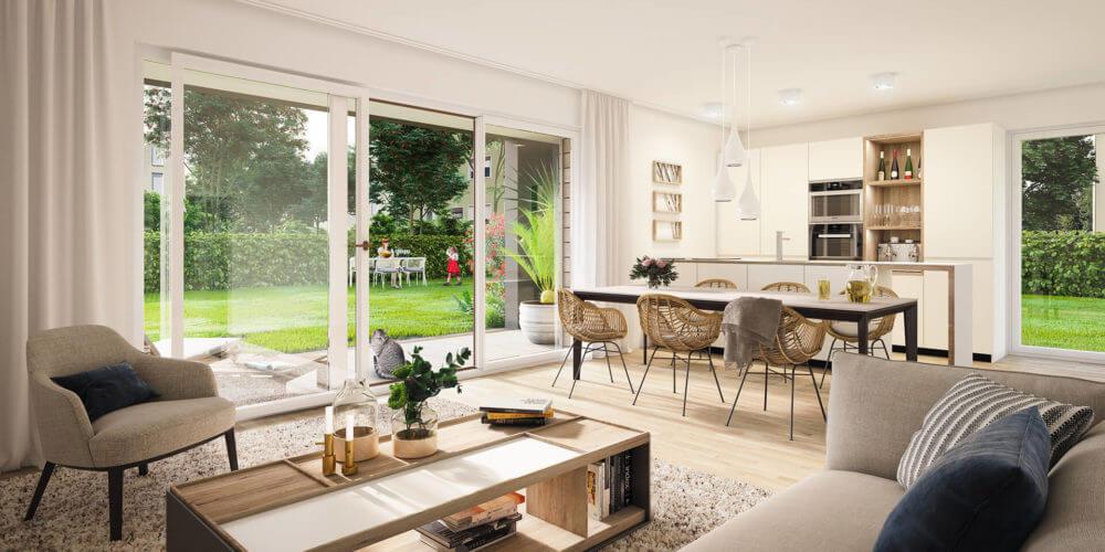 Wohnbereich Gartenwohnung 1