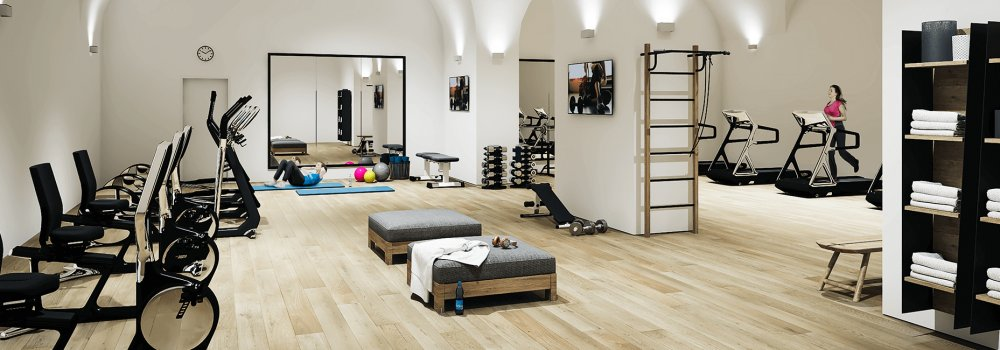 Rendering centro fitness a Gries Village